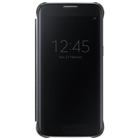 SAMSUNG Flip Cover Custodia Clear View Originale per Galaxy S7 - Nero