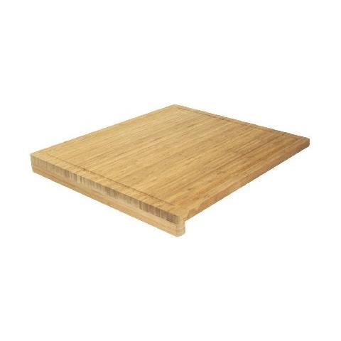 508815 - Tagliere In Bambù Con Bordi, 52,5 X 46 X 1,9 Cm