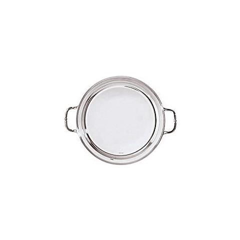 Vassoio Tondo Cm 40 C / maniglie Contour Inox Argentato