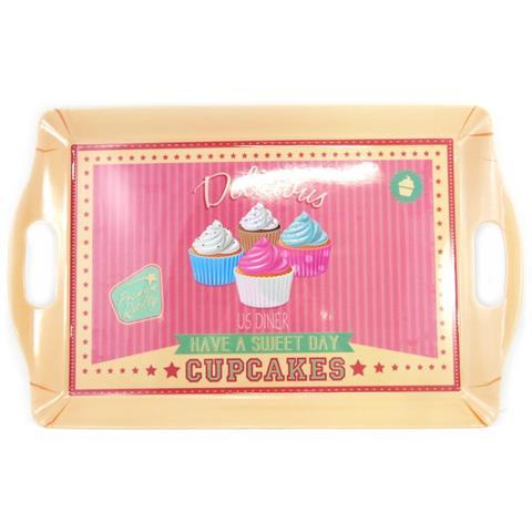 Les Trésors De Lily grande vassoio 'cupcakes' beige rosa (505x315 cm) - [ m4717]
