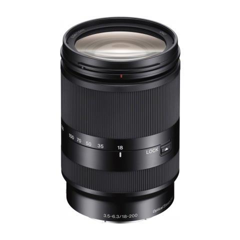 Obiettivo con zoom con ingrandimento elevato E 18-200 mm F3,5-5,6. Compatibile solo con le...
