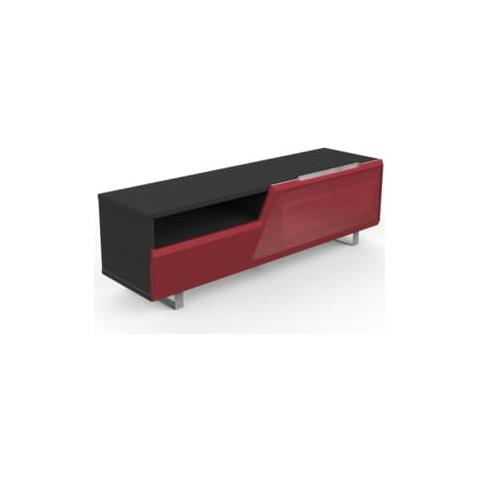 Mk160nos-ro Mobile Per Tv Fino 65 Pollici Finitura Rovere Grigio / rosso