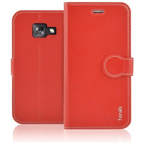 FONEX Custodia a Libro per Samsung Galaxy A5 (7) Colore Rosso