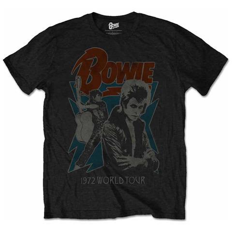ROCK OFF David Bowie - 1972 World Tour Blk (T-Shirt Unisex Tg. 2XL)