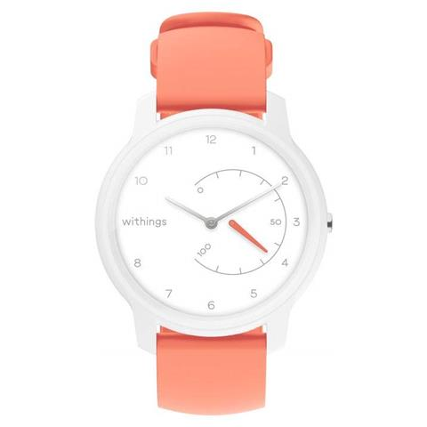 Sportwatch Withings Move Impermeabile 5ATM con Bluetooth per Fitness Bianco / Corallo - Eu...