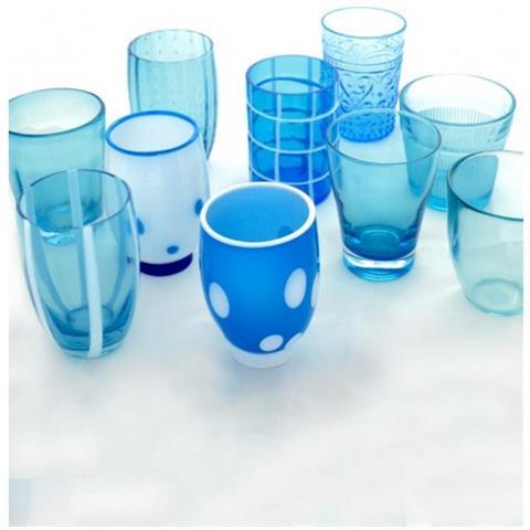 Set 6 Bicchieri Melting Pot Tumbler Assortiti Acquamare