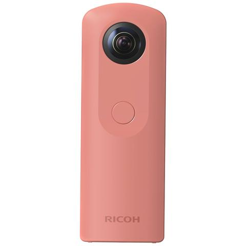 RICOH Fotocamera 360° Theta SC Filmati Full HD Memoria 8GB Wi-Fi colore Rosa
