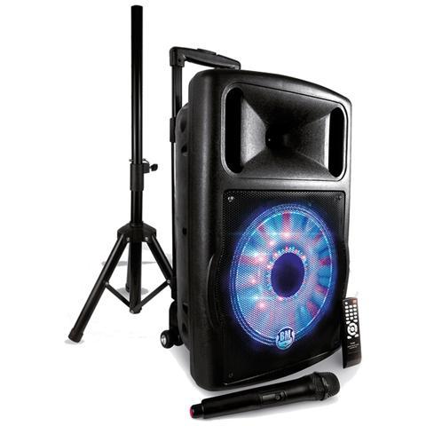 Karma Box a Led Amplificato Potenza Totale 120W Supporto MP3 Slot SD colore Nero