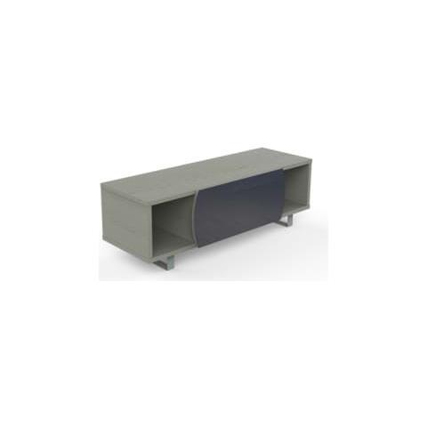 Mk130ngr-gs Mobile Per Tv Fino 55 Pollici Finitura Olmo Scuro / grigio Scuro