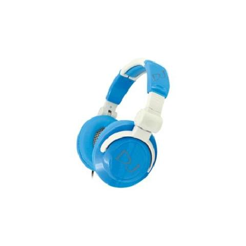 MEDIACOM Cuffie WHITE / BLUE con 2 Altoparlanti 57mm Full Range - Connessione Jack Audio 3.5 mm