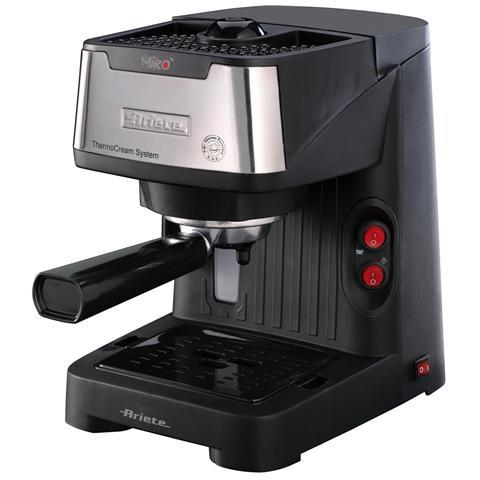 Mirò Macchina da Caffè Espresso Manuale Capacità Serbatoio 0.9 Litri Potenza 850 Watt Colore Nero