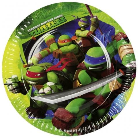 COMO GIOCHI Teenage Mutant Ninja Turtles - 8 Piatti 18 Cm