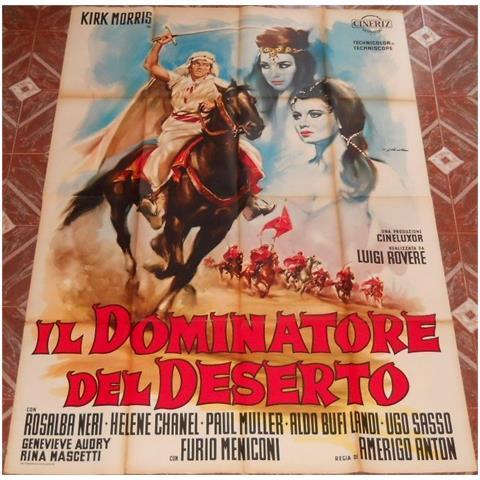 Vendilosubito Manifesto 4f Originale Del Film Il Dominatore Del Deserto 1964