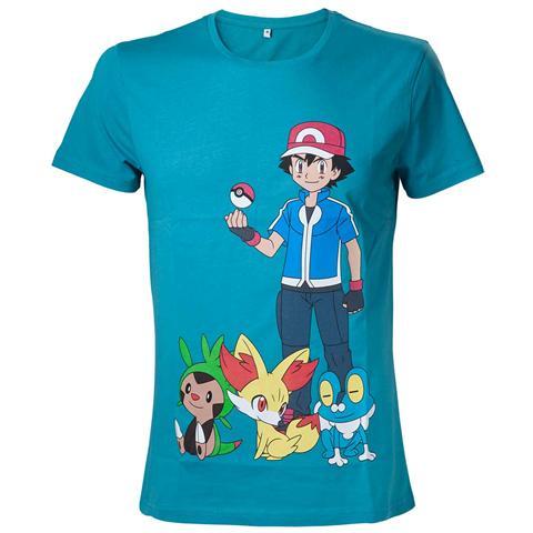 BIOWORLD Pokemon - Green With Print (T-Shirt Unisex Tg. L)