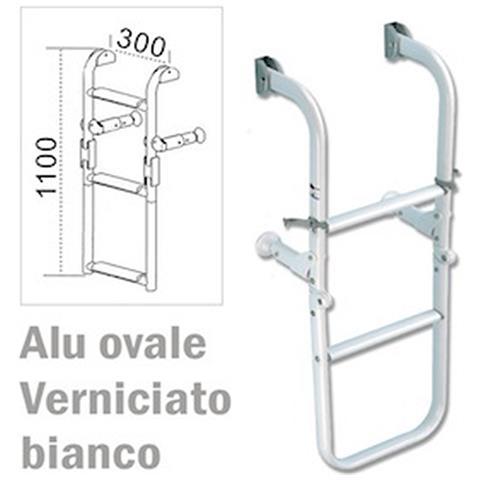 Scaletta Serie Ovale Pieghevole Verniciata Bianca 2+2=4 1900 Gr.