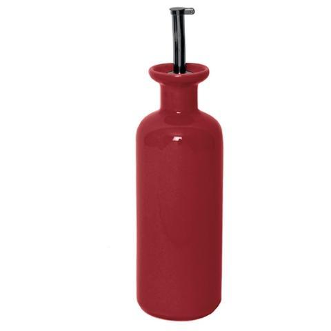 Oliera in ceramica colore rosso 335 ml