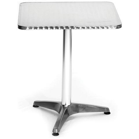 Tavolo In Alluminio Quadrato 60x60 H70cm 780/49