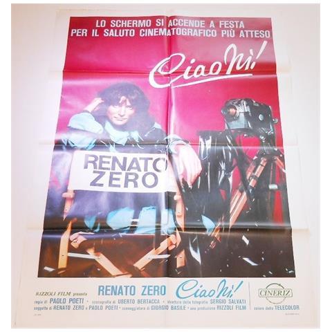 Vendilosubito Manifesto 4f Originale Del Film Ciao Ni' Renato Zero 1979