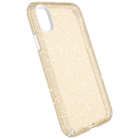 """SPECK Presidio Clear + Glitter 5.8"""" Cover Oro, Traslucido"""