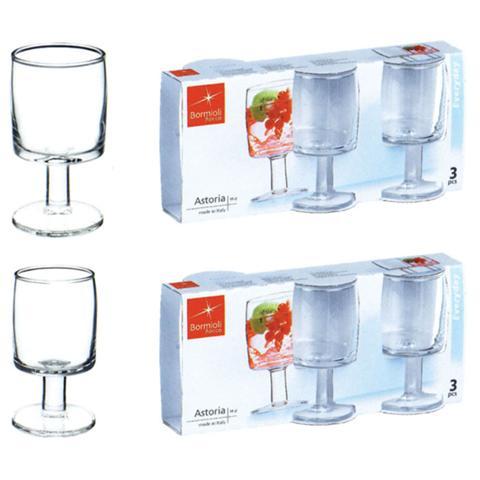 BORMIOLI Confezione 3 Pezzi Bicchieri da Acqua - Linea Astoria
