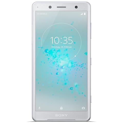 """SONY Xperia XZ2 Argento 64 GB 4G / LTE Impermeabile Display 5.7"""" Full HD Slot Micro SD Fotocamera 19 Mpx Android - Tim Italia RICONDIZIONATO"""