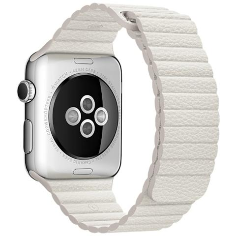 APPLE Loop in pelle da 42 mm Large colore Bianco
