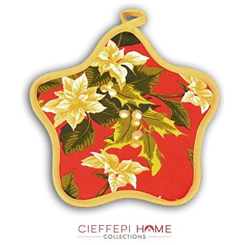 Cieffepi Home Collections - Sottopentola Stella Noel Rosso