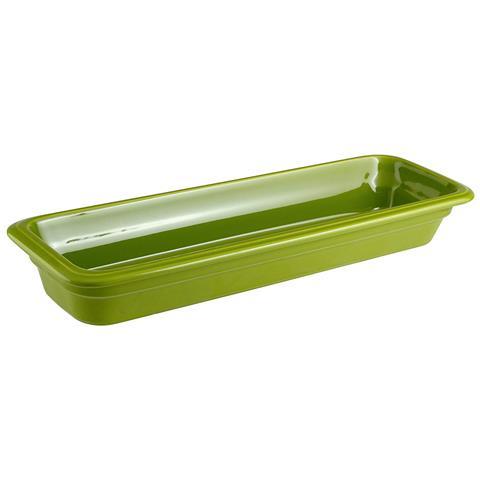Bacinella Gn 2/4 Cm 53x16x6,5 Porcellana Verde