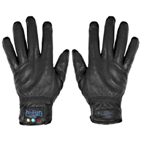 HI-FUN Hi-call Leather Black Extra Large - Guanto Cornetta Bluetooth