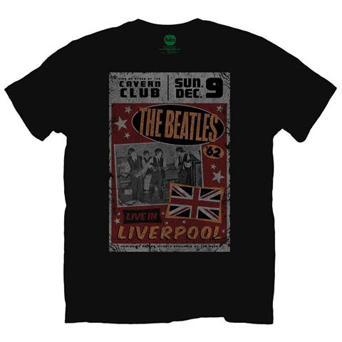 ROCK OFF Beatles (The) - Live In Liverpool Black (T-Shirt Unisex Tg. M)