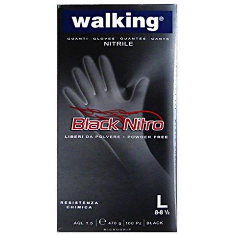 Walking Guanti X 100 Blacknitro L Nitrile 010583 Giardinaggio