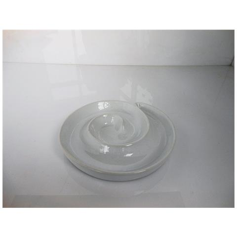 Fimel Piatto A Spirale In Porcellana Bianca Di Tognana, Dimensioni 17 Cm.