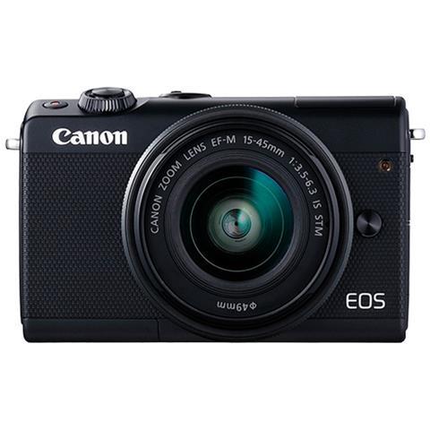 Fotocamera Compatta EOS M100 24,2 Mpx Display TFT Wi-Fi Colore Nero + Obiettivo EF-M 15