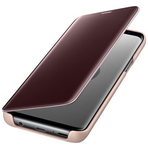 SAMSUNG Flip Cover Custodia Clear View Standing per Galaxy S9 colore Oro