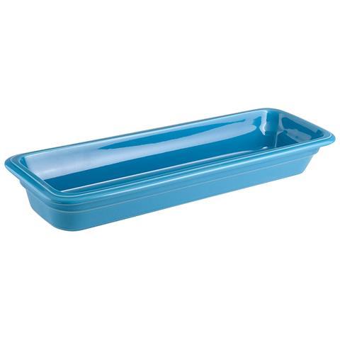 Bacinella Gn 2/4 Cm 53x16x6,5 Porcellana Azzurro