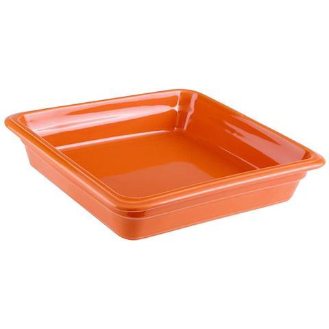 Bacinella Gn 2/3 Cm 35x22x6,5 Porcellana Arancio