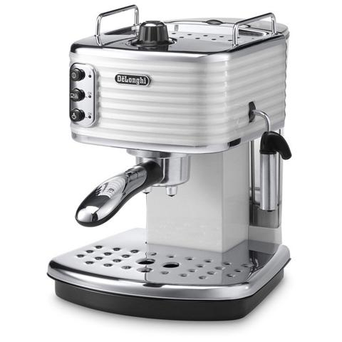 ECZ351W Scultura Macchina Caffè espresso Manuale Capacità Serbatoio 1.4 Litri Potenza 1100 Watt Colore Bianco