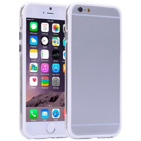 """BUMPER Cover Iphone 6 Plus 5.5"""" Bianco / trasparente"""