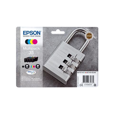 C13T35864010 Cartuccia Ink Originale Multicolore per WorkForce Pro WF-4720 Capacità 900 Pa...