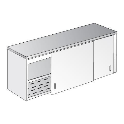 Pensile 200x40x60 Acciaio Inox 304 Armadiato Sgocciolatoio Ristorante Rs5492
