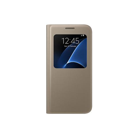 SAMSUNG S View Flip Cover Custodia per Galaxy S7 - Oro