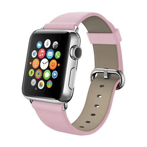 FONEX Cinturino WristBand in vera pelle per Apple Watch da 42mm - Rosa