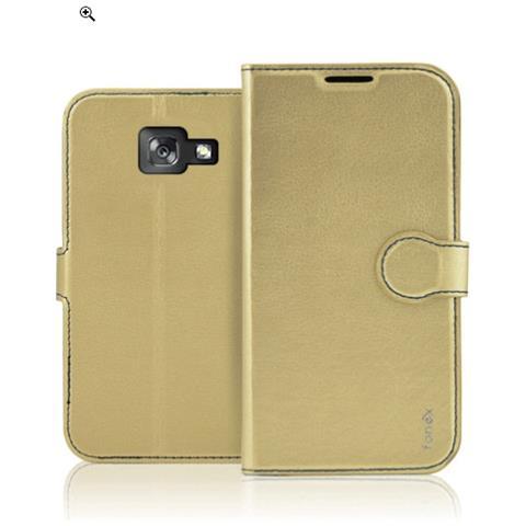 FONEX Custodia a Libro per Samsung Galaxy A3 (7) Colore Oro