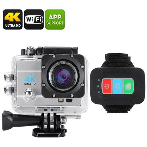 Sports Action Cameras Action Camera Filmati 4K Modalità Foto 16 Mpx Impermeabile Fino a 30m Wi-Fi