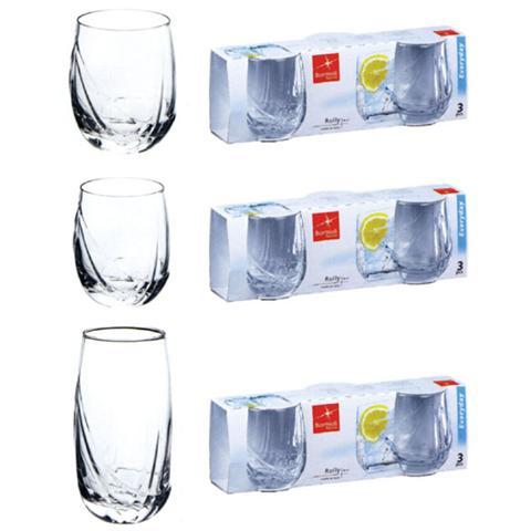 BORMIOLI Confezione 3 Pezzi Bicchiere per Acqua - Linea Rolly