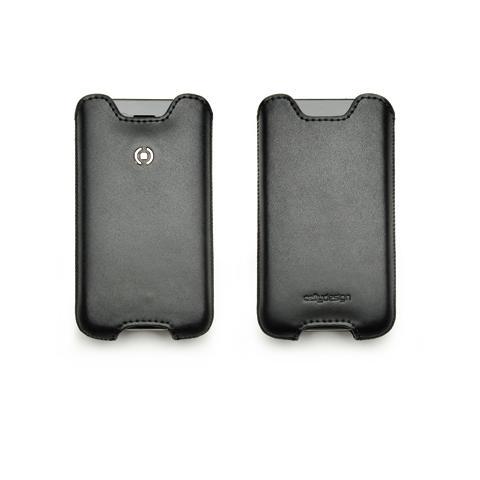 CELLY black vert. leather case size l