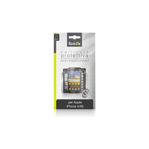 FONEX Pellicola Protettiva Anti Impronta per iPhone 4/4S (2Pz)
