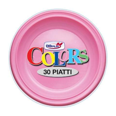 Dopla Piatti Di Plastica 23 Cm Rosa