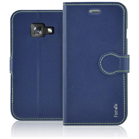 FONEX Flip Cover Custodia per Galaxy A3 in TPU Colore Blu