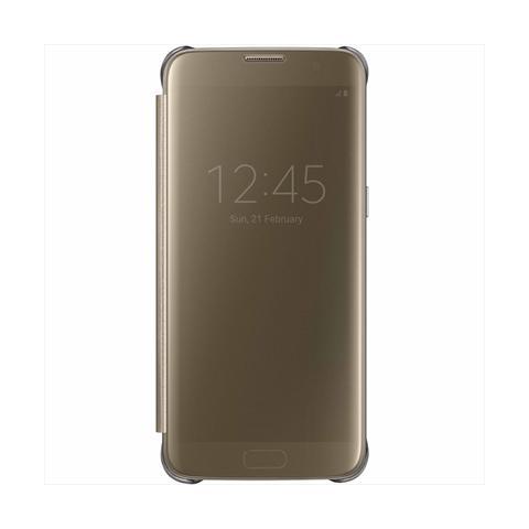 SAMSUNG Flip Cover Custodia Clear View per Galaxy S7 Edge - Oro